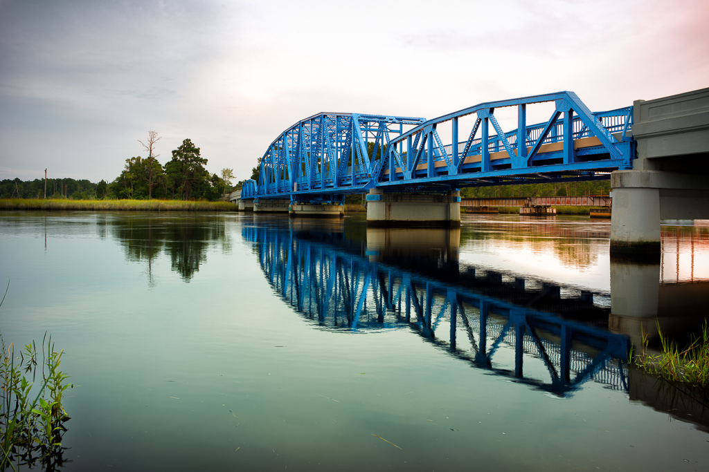 Historic St Marys River Bridge on the Georgia Florida line.  Photo by Ed Richtsteig Photography